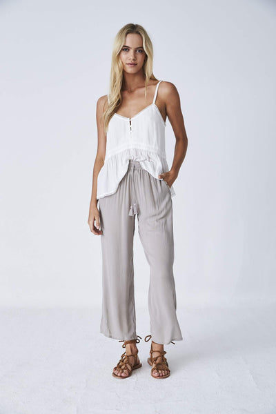 Indian Summer Co Sara Pant - Silver Cloud