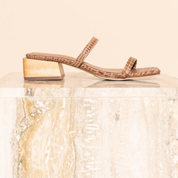James Smith Salo Sandal - Brown Croc