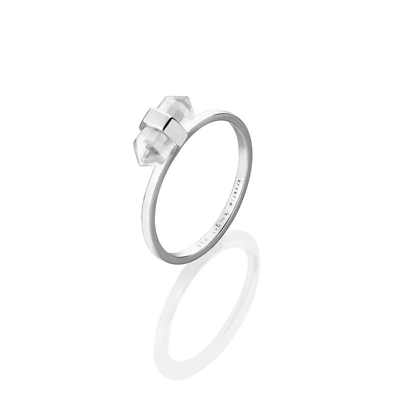 Krystle Knight Mini Glory Quartz Ring - Silver