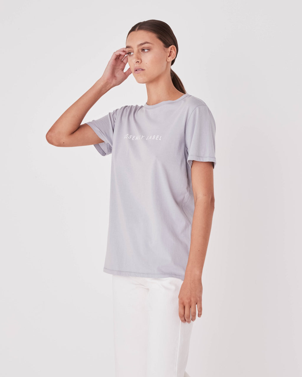 Assembly Label - Logo Tee Womens Cloud
