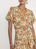 Faithfull Mali Wrap Top Le Rose Floral Print - Apricot
