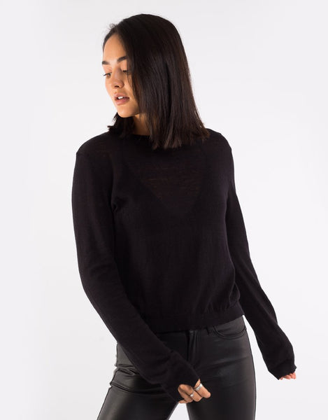 All About Eve - Michaela Knit Top -  Black