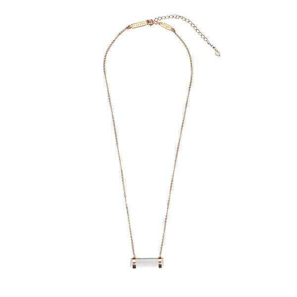 Krystle Knight Nimbus Crystal Necklace - Gold