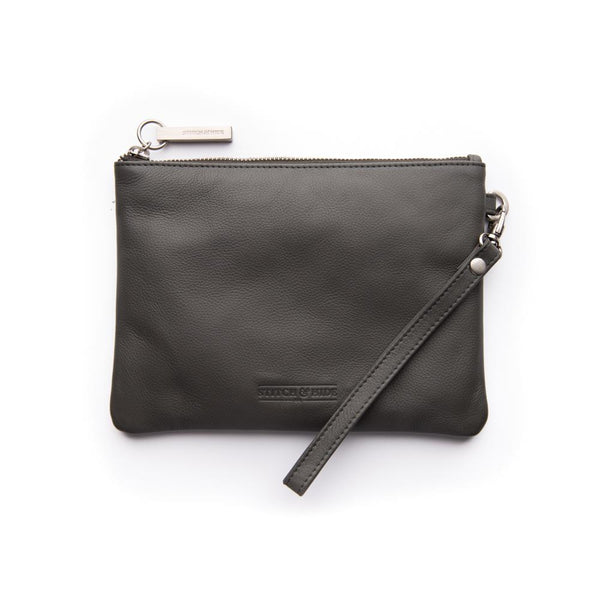 Stitch & Hide Cassie Clutch - Charcoal
