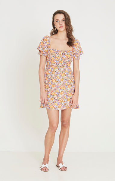 Faithfull Iris Mini Dress - Meja Floral Print