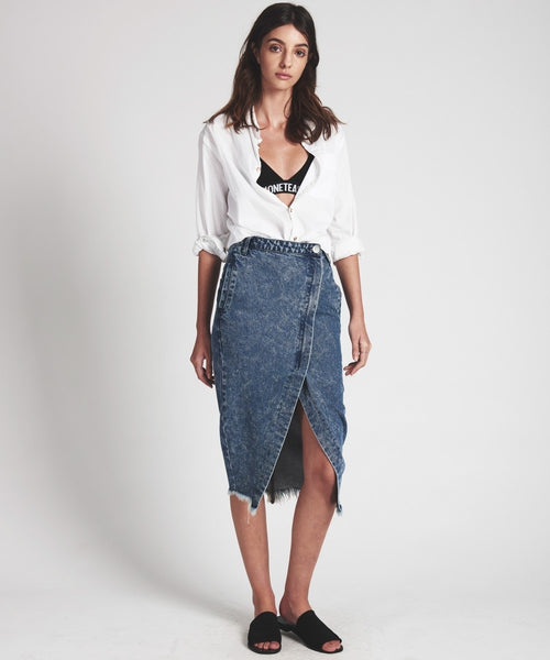 OneTeaspoon Blue Society Denim Skirt