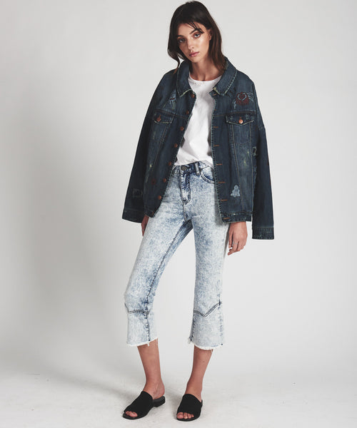 OneTeaspoon Rocky Acid Kicks- Low Waist Flare Jean