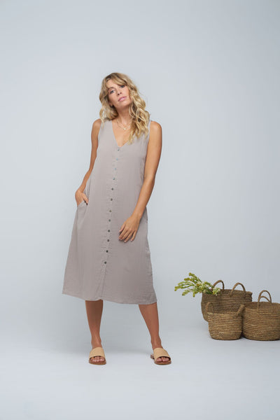 Indian Summer Co Pushkar Dress Pebble