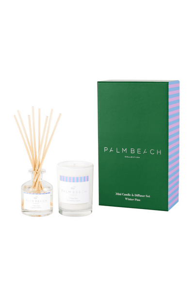 Palm Beach - Gift Pack Mini Candle & Diffuser - Winter Pine