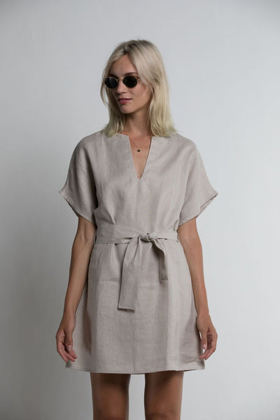 Lilya Ameila Linen Dress - Sand