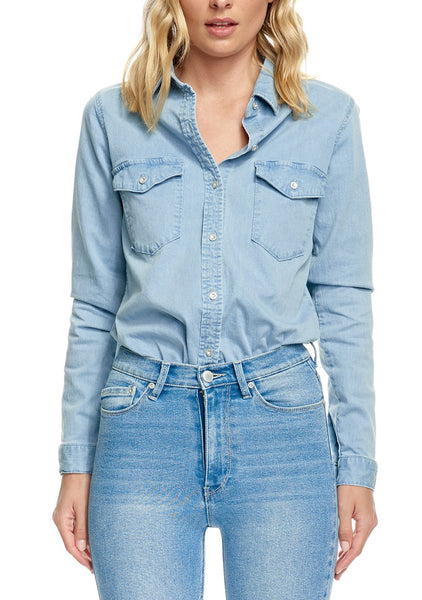 Res Denim Bianca Shirt - Daisy Blue