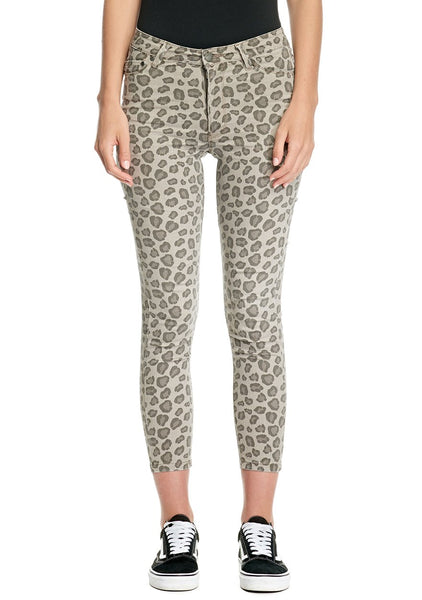 Res Denim Kitty Crop Skinny - Wild Cat Print