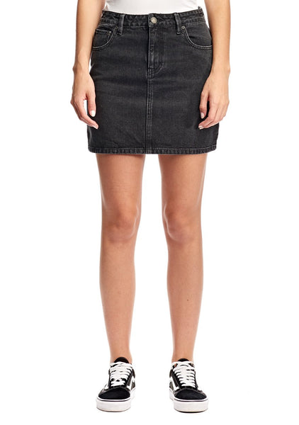 Res Denim Rebel Skirt - Washed Black
