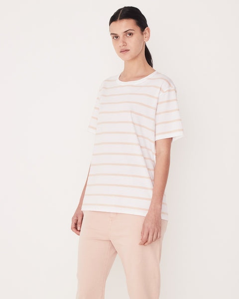 Assembly Label Essential Cotton Crew - Rosewater Stripe
