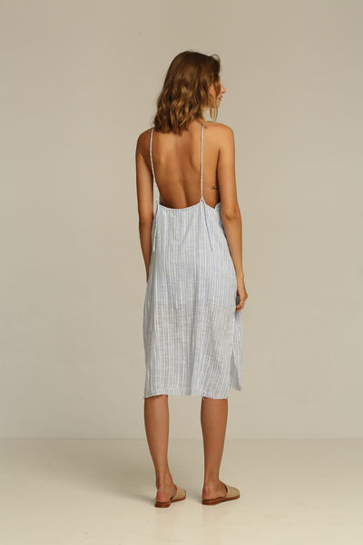 Rue Stiic Rita Midi Dress - Bluebell Stripe