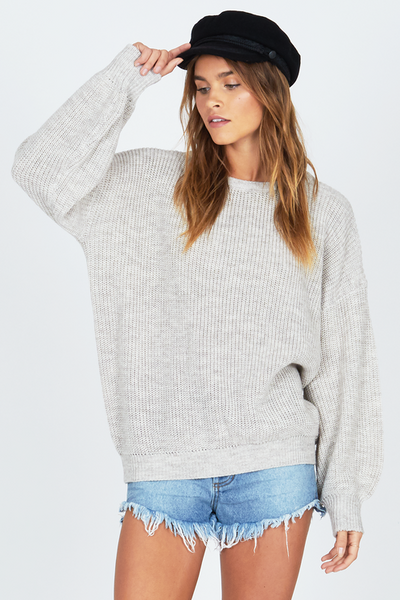 Amuse Society Sierra Sweater - Oatmeal Heather