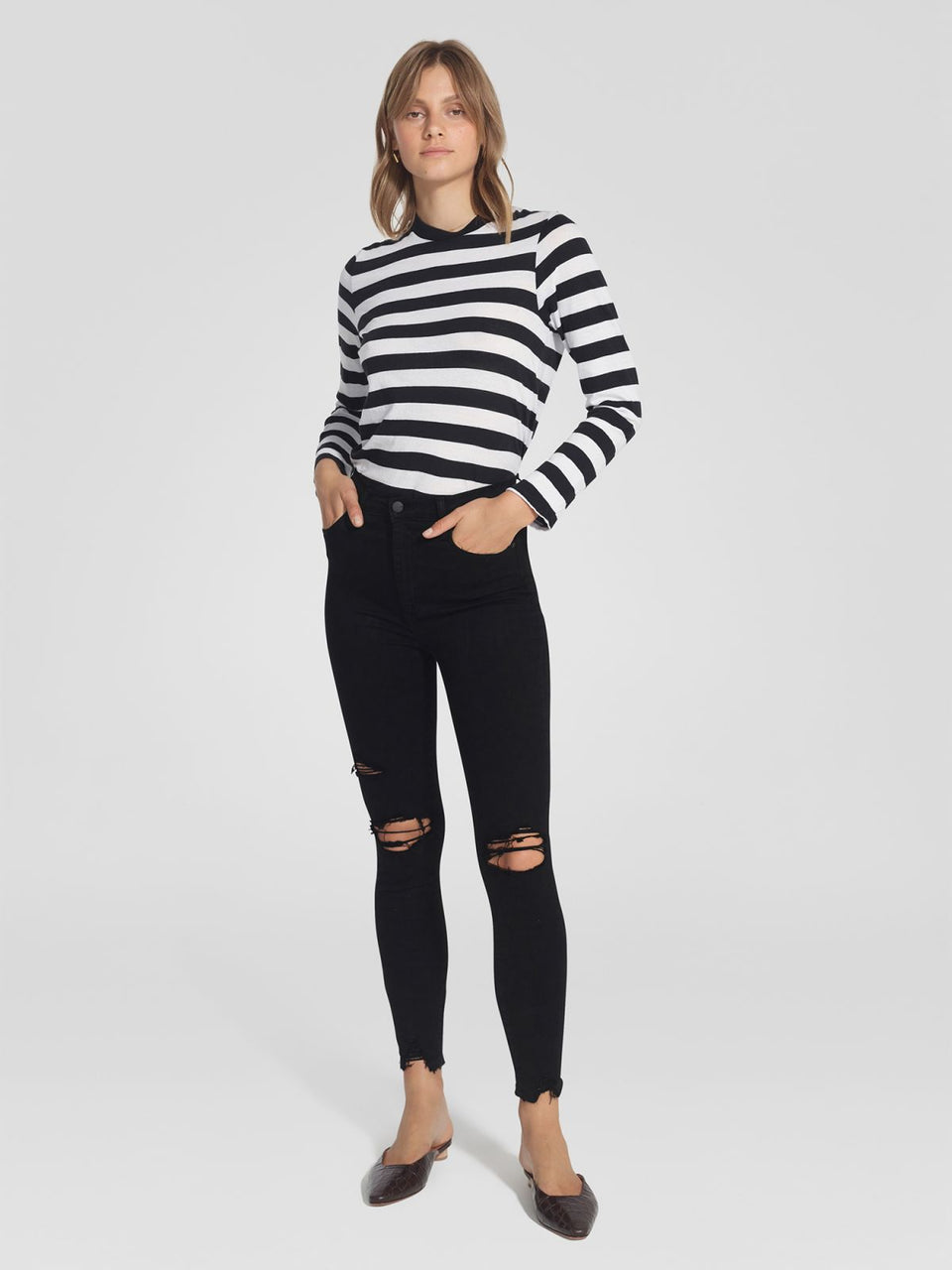 Nobody Denim Siren Skinny Ankle - Dramatic
