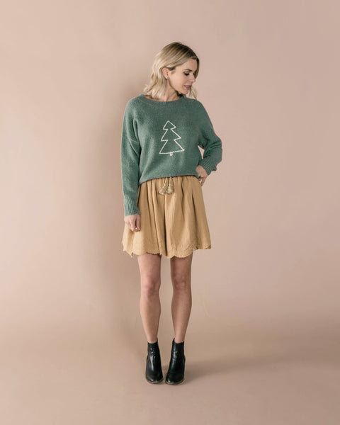 Rylee + Cru Mini Skirt - Honey