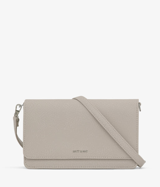 Matt & Nat - Bee Dwell Crossbody Bag - Koala Matte Nickel