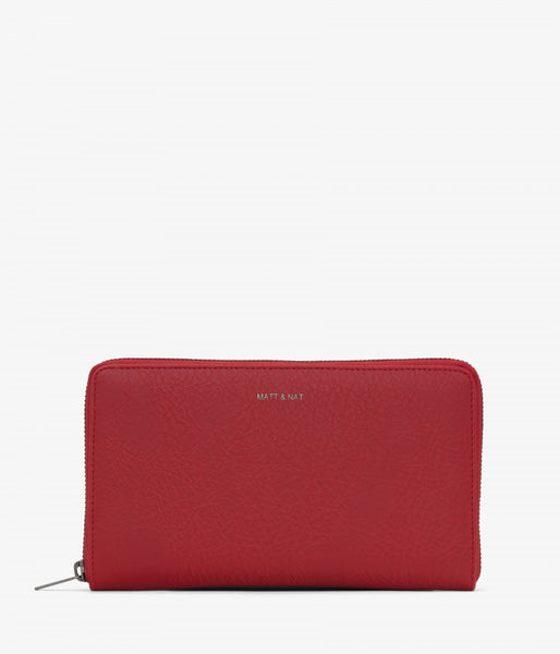 Matt & Nat - Trip Dwell Wallet - Red