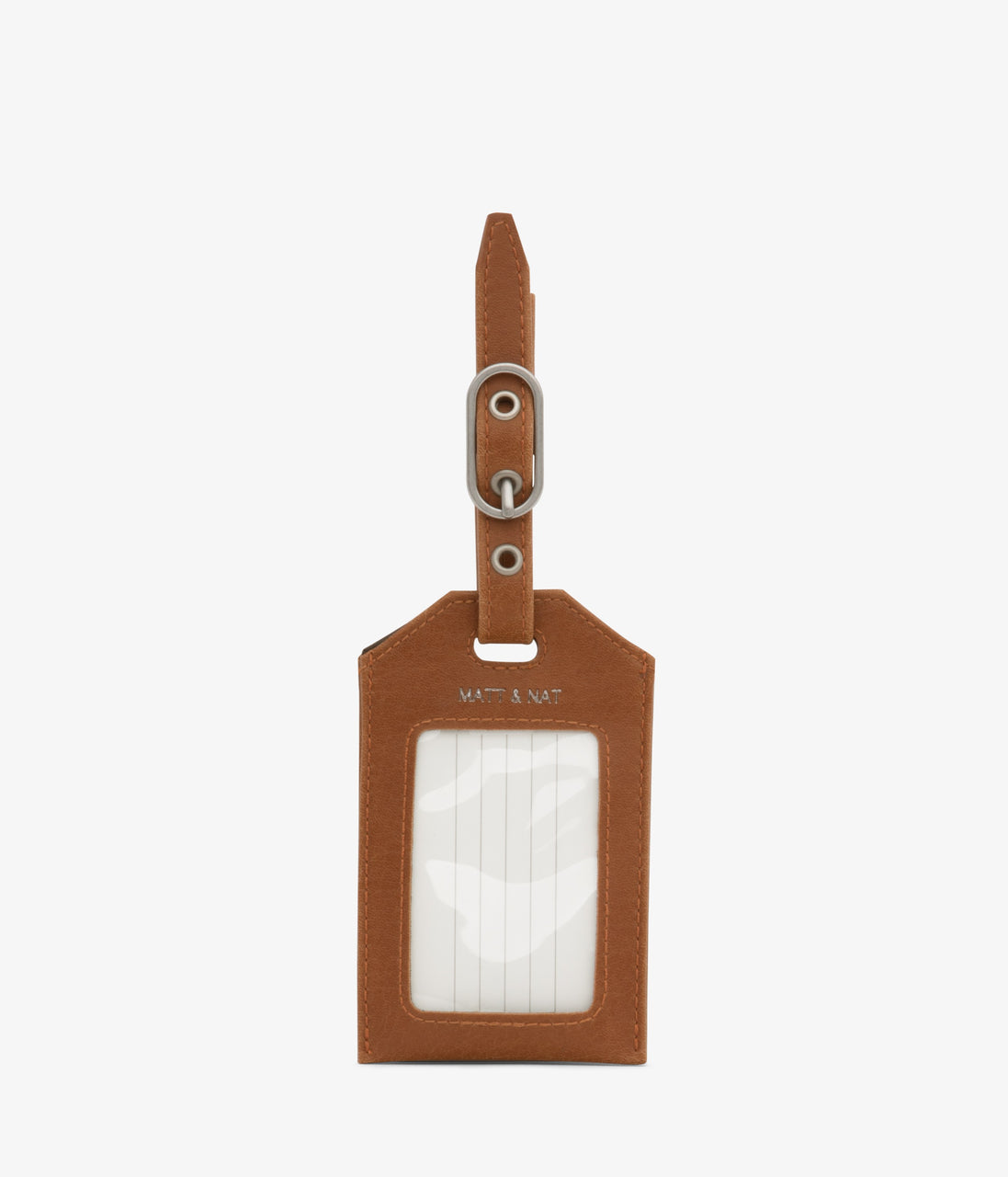 Matt & Nat - Trotter Vintage Luggage Tag - Chili Matte Nickel