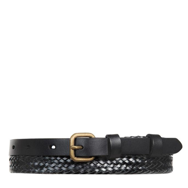 Status Anxiety Only Lovers Left Belt - Black Plaited