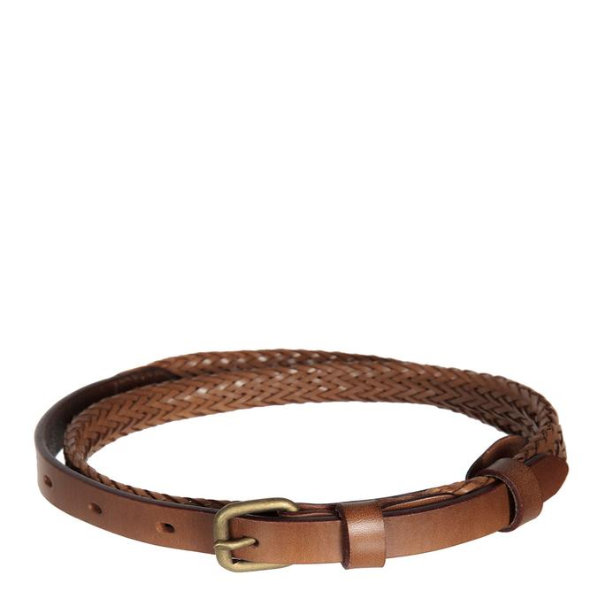 Status Anxiety Only Lovers Left Belt - Tan Plaited