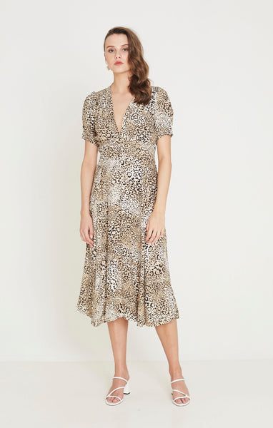 Faithfull Meadows Midi Dress - Signe Animal Print
