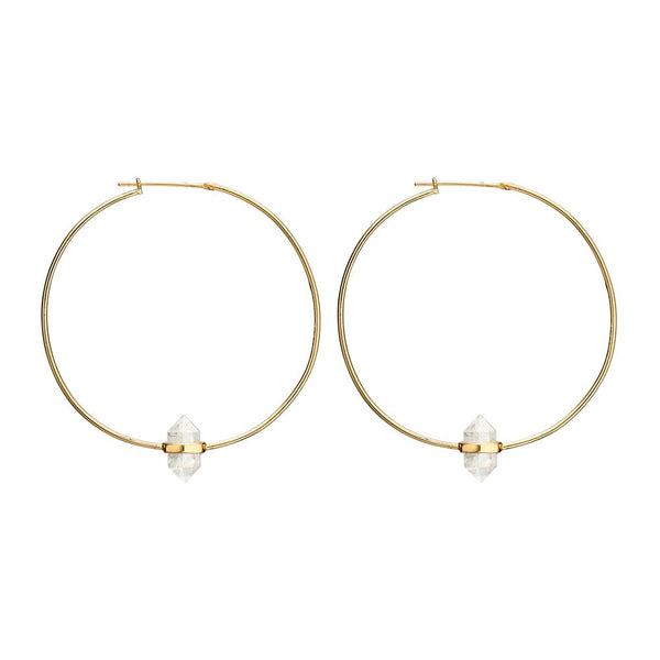 Krystle Knight Large Summer Light Hoops - Gold