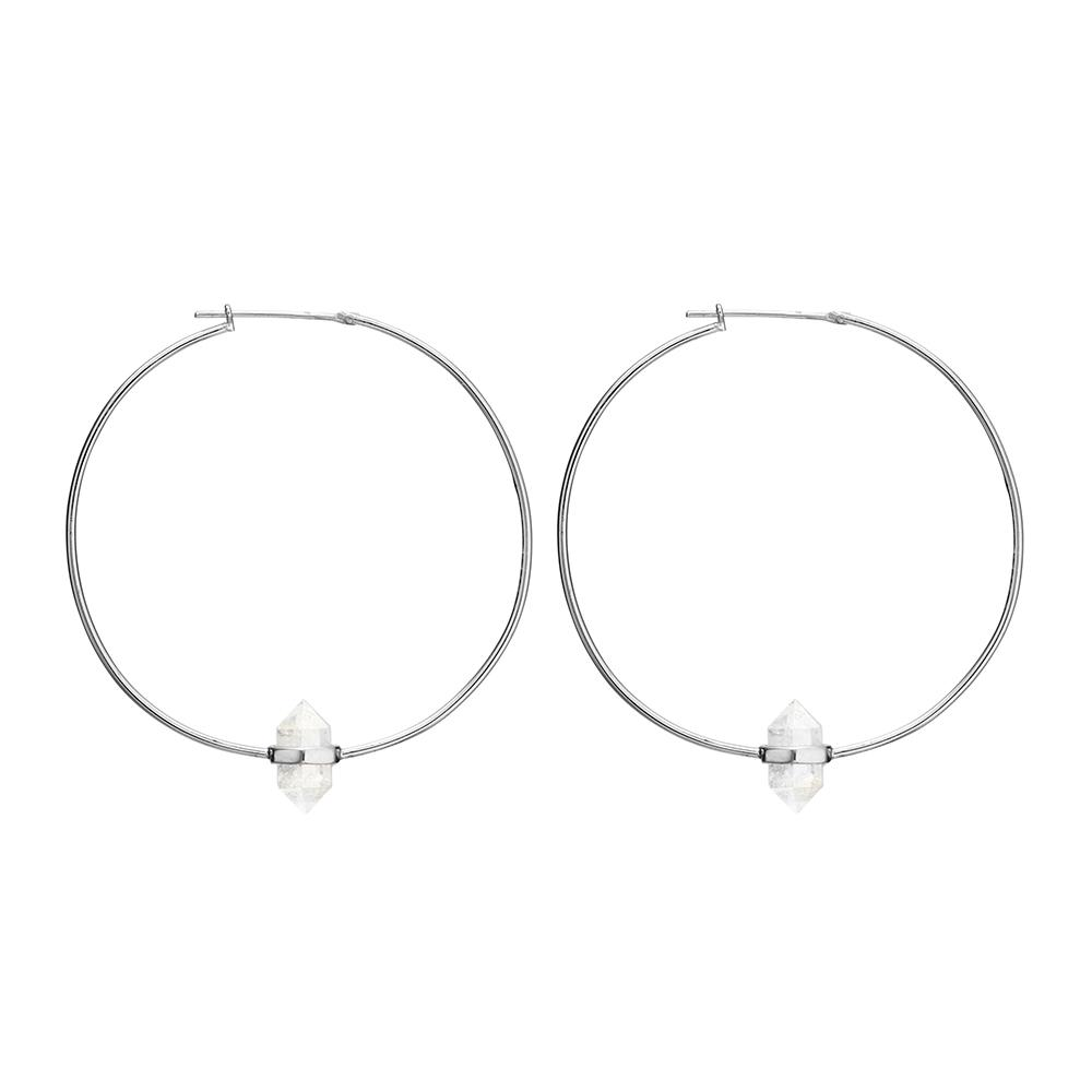 Krystle Knight Large Summer Light Hoops - Silver