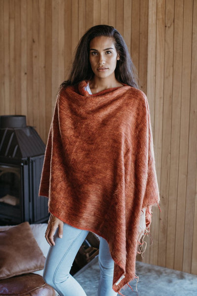 Hobo and Hatch Poncho - Terracotta