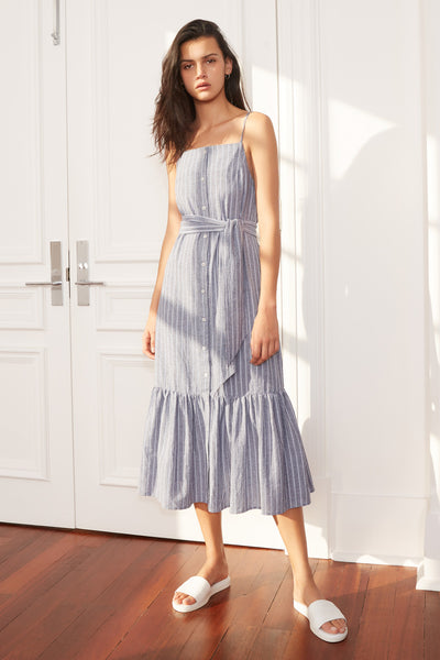 The Fifth Pixel Stripe Midi Dress