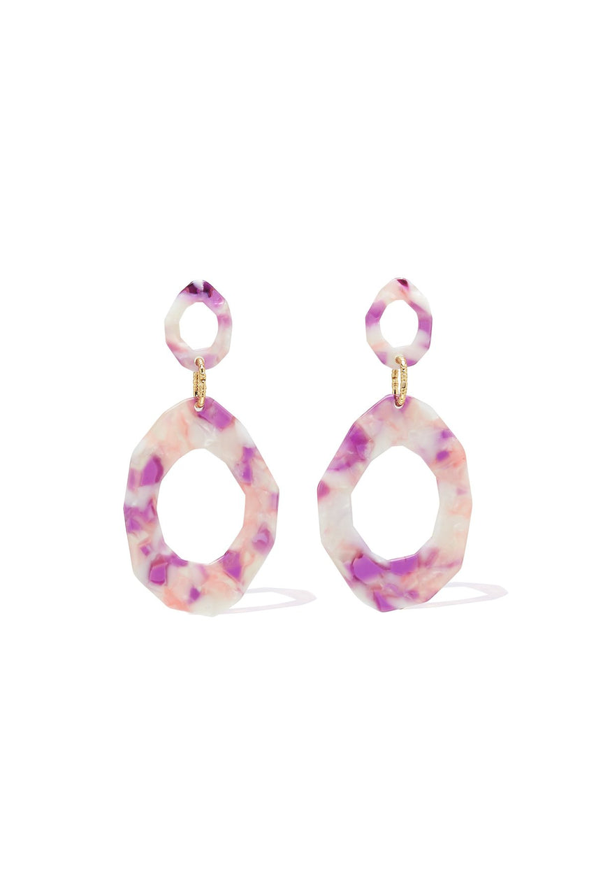 Tigerlily Akela Drop Earrings Pink