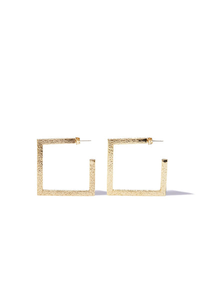 Tigerlily Kula Small Square Earrings - Gold