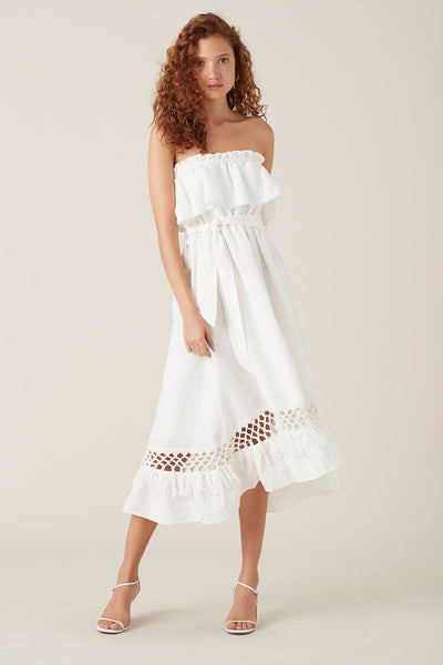 Tigerlily Tanoosa Maxi Dress - White