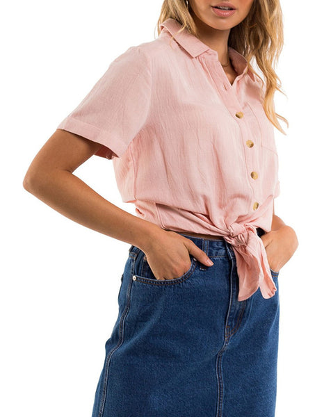All About Eve Vintage Tie  Up Shirt
