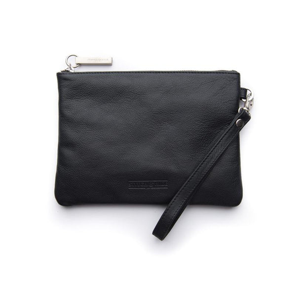 Stitch & Hide Cassie Clutch - Black