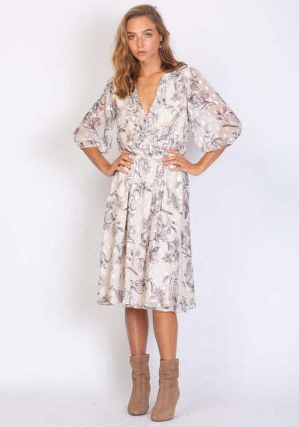 Three Of Something Vintage Floral Moderne Dress