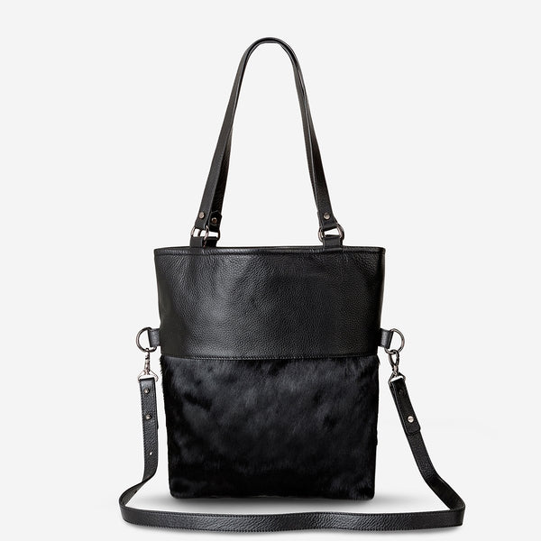 Status Anxiety Wasteland Bag - Black/Fur