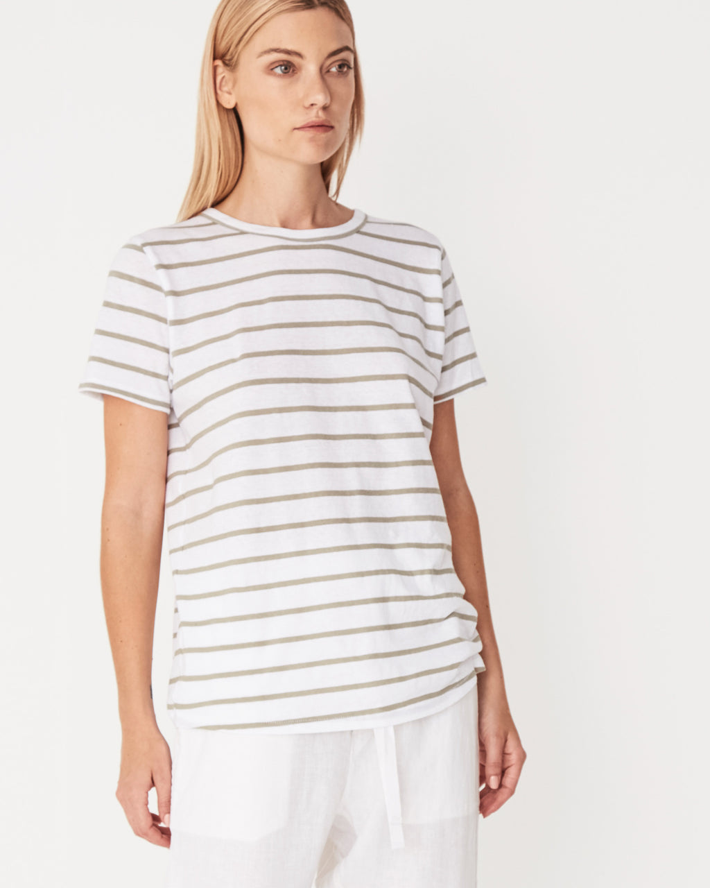 Assembly Label Everyday Tee - Sage Stripe