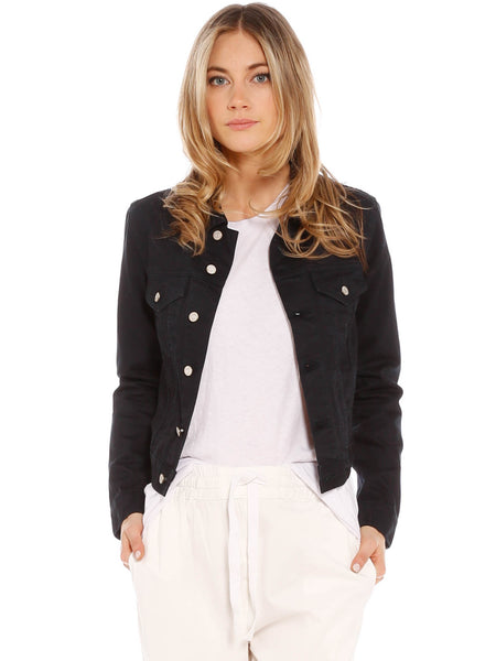 Assembly Label Femme Denim Jacket - Worn Black