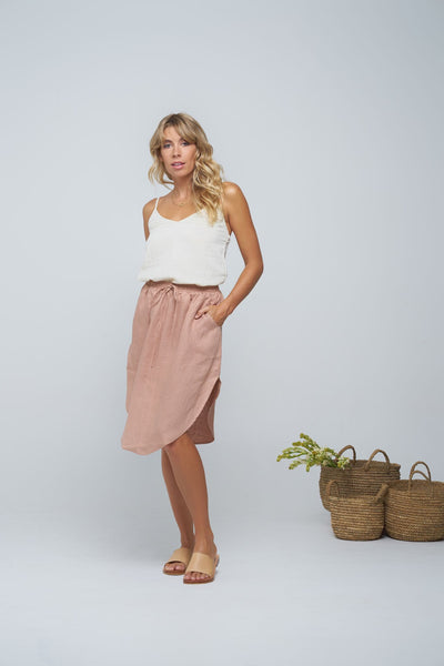 Indian Summer Co Dharmi Skirt Blush