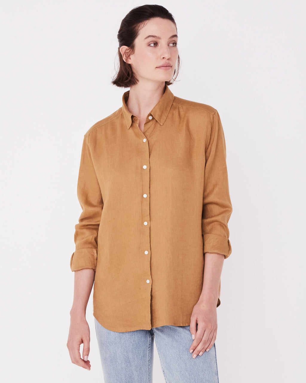 Assembly Label Xander Long Sleeve Shirt - Sepia