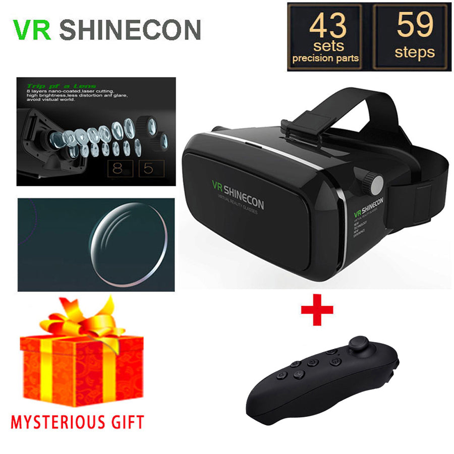 VR Shinecon VR Box Headset Video 3 D 3D Virtual Reality Glasses Goggles Smartphone Helmet Smart Google Cardboard Cardbord Vrbox
