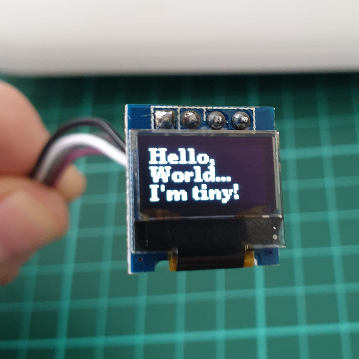 "Tutorial - Using the 0.49"" 64 x 32 Graphic I2C OLED Display with Arduino"