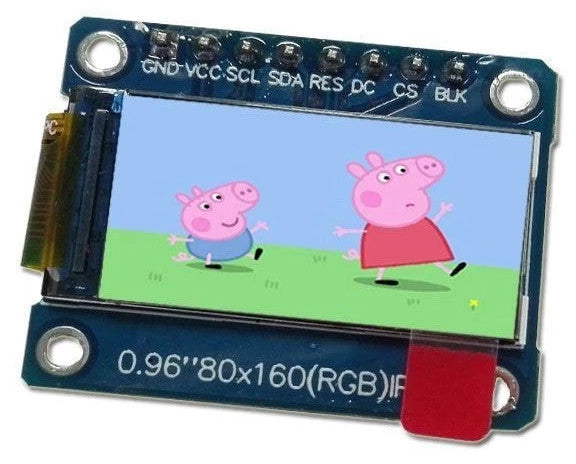"Learn how to use the 0.96"" 80 x 160 Full Color IPS LCD Module from PMD Way with Arduino and compatible boards"