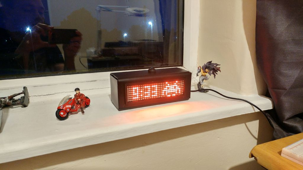 Build a Dot Matrix Display Space Invaders Clock with Arduino