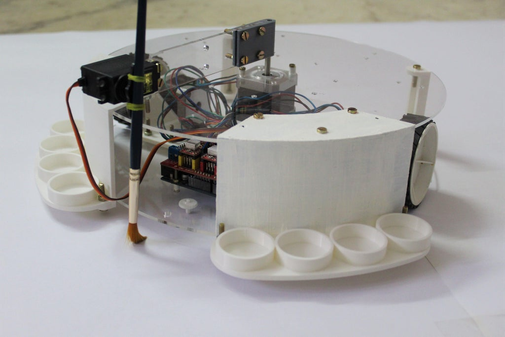 This Arduino-powered robot is like a Roomba with a paintbrush