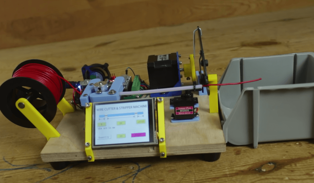 Arduino-based machine makes cutting and stripping wires easy