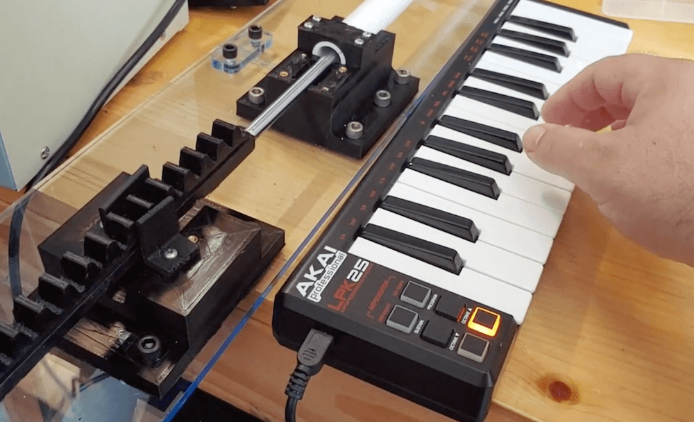 MIDI-controlled slide whistle made with an Arduino Due